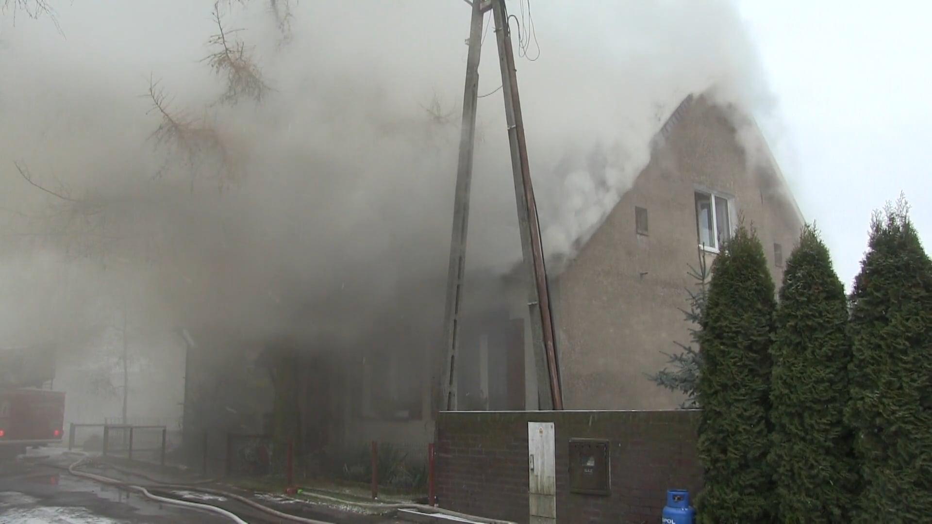 W Wyrzece spłonął dom