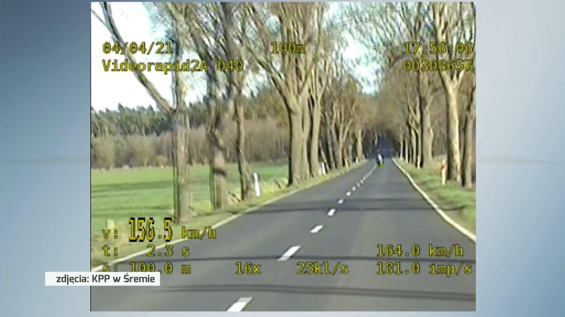 Pędził ponad 200 km/h. Policjanci zatrzymali motocyklistę po kilkunastu kilometrach